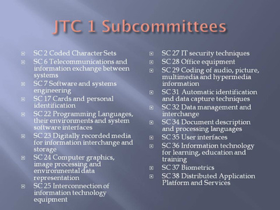 図1: JTC1 SC一覧