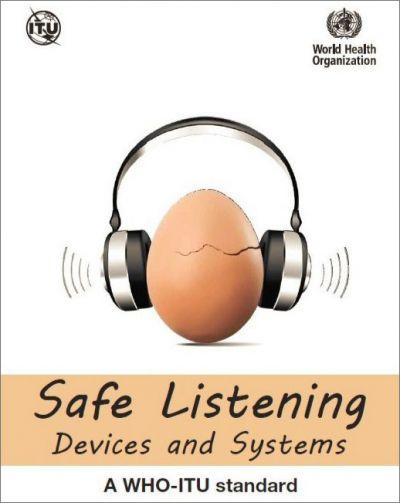 図1. Safe-listening勧告のWHO版出版物の表紙